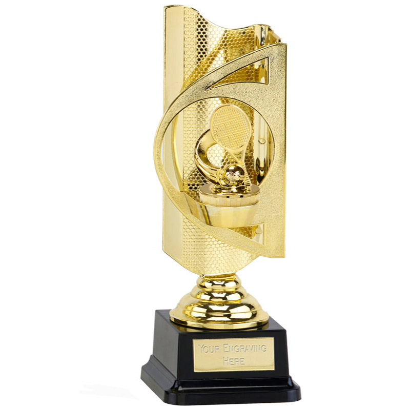 31cm Gold Tennis Figure On Infinity Award