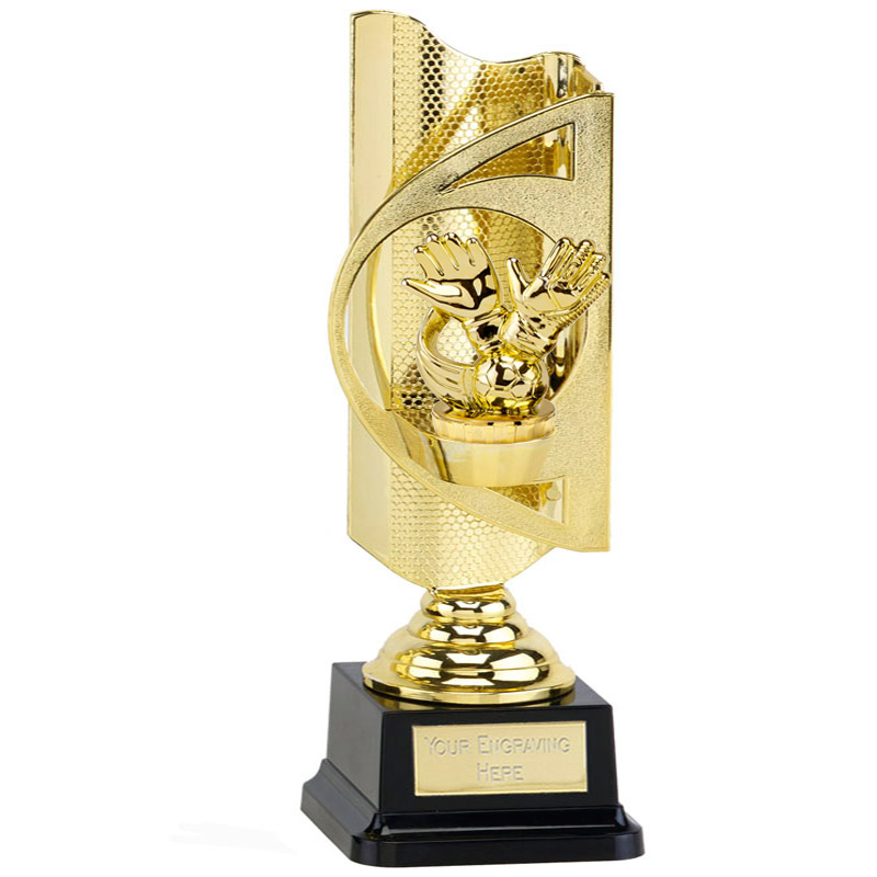 31cm Gold Keeper Glove Figure On Football Infinity Award