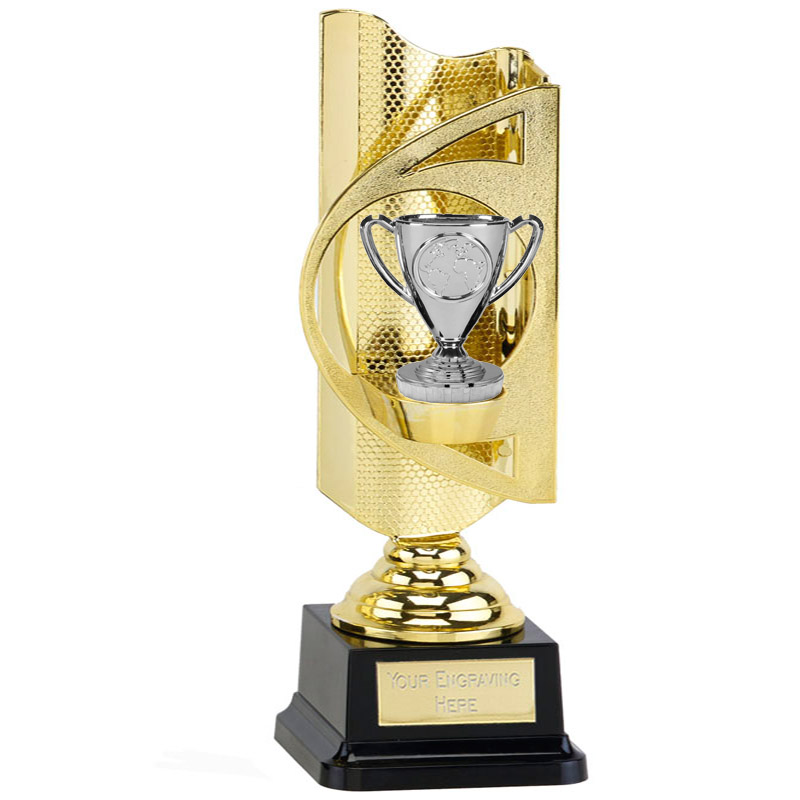 31cm Gold Silver Cup Figure on Infinity Award
