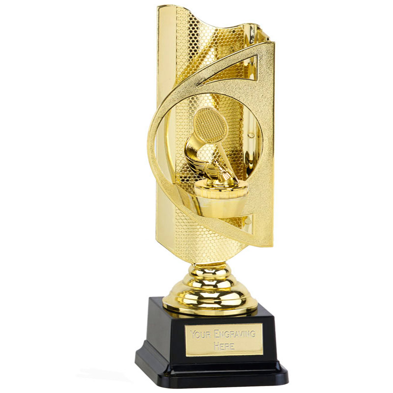31cm Gold Badminton Figure On Infinity Award