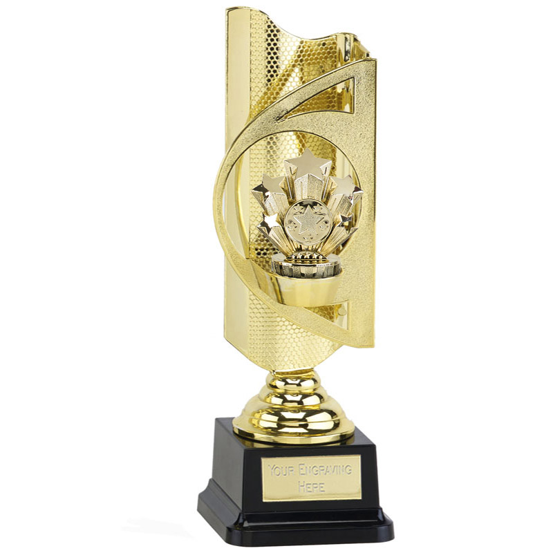31cm Gold Five Star Figure on Infinity Award