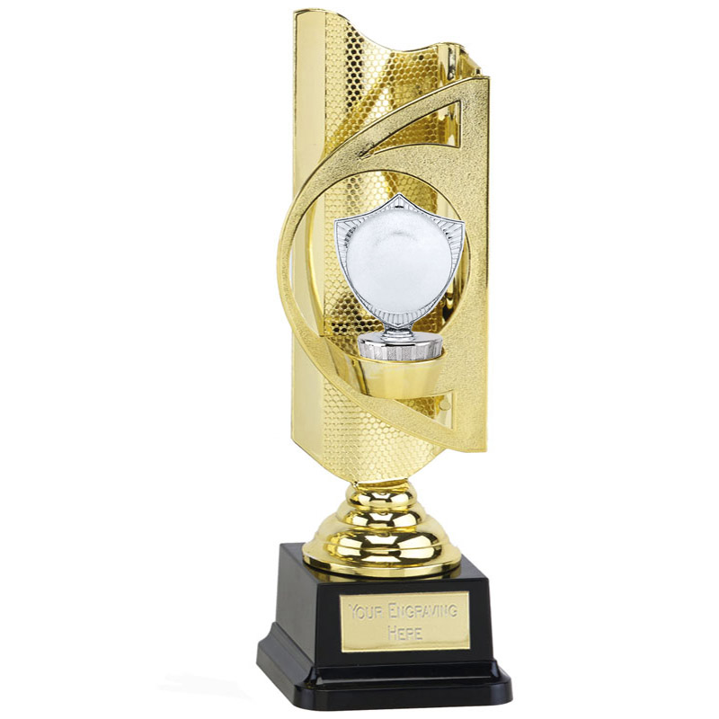 "31cm Silver 2"" Centre Shield Figure On Infinity Award"