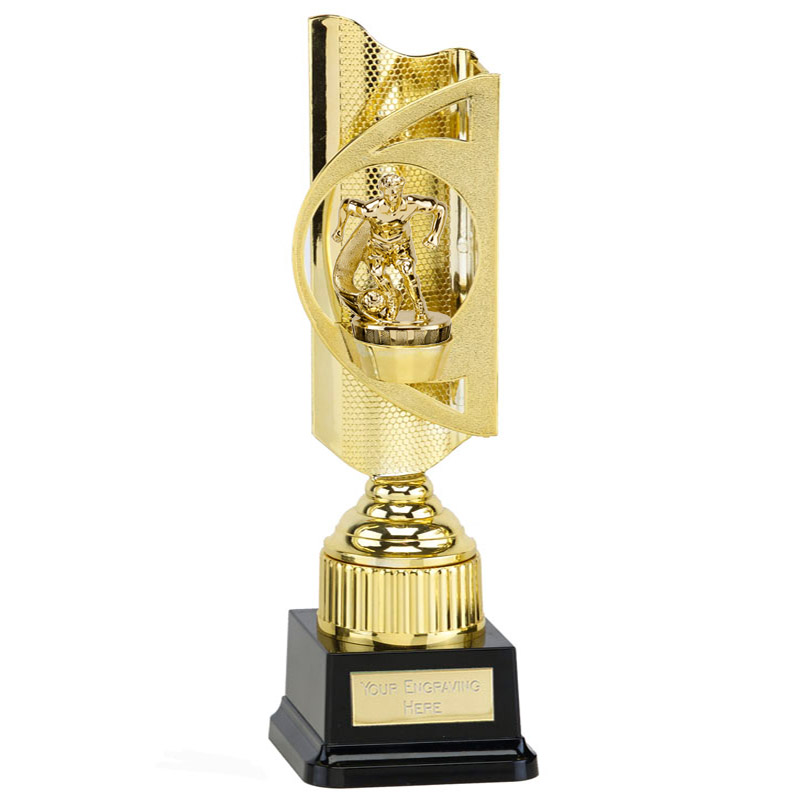 35cm Gold Football Player Figure on Football Infinity Award
