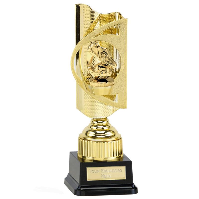 35cm Gold Boot & Ball Figure On Football Infinity Award
