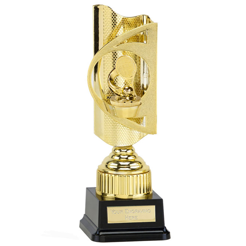 35cm Gold Tennis Figure On Infinity Award