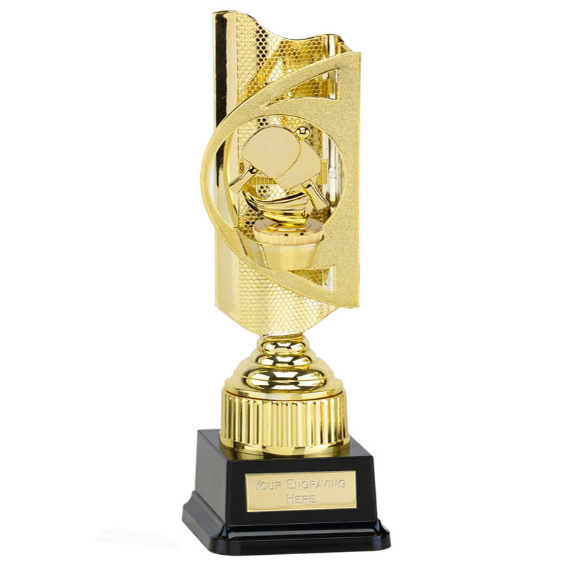 35cm Gold Table Tennis Figure On Infinity Award