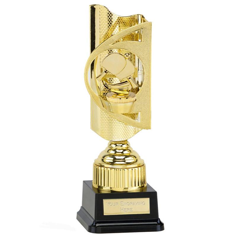 35cm Gold Table Tennis Figure On Infinity Award