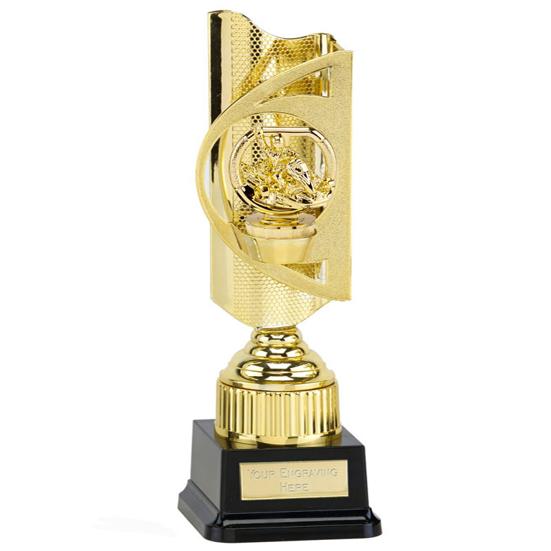 35cm Gold Go-Kart Figure On Motorsports Infinity Award