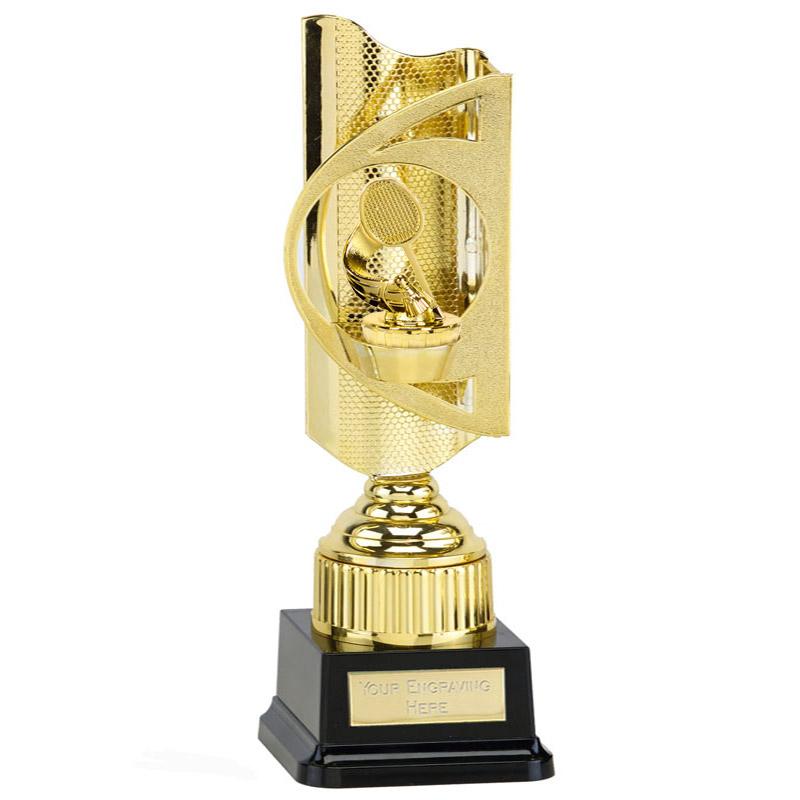 35cm Gold Badminton Figure On Infinity Award