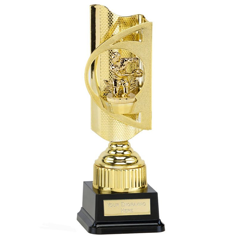 35cm Gold Rugby Figure on Rugby Infinity Award