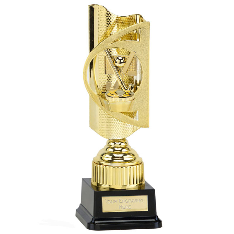 35cm Gold Field Hockey Figure on Hockey Infinity Award