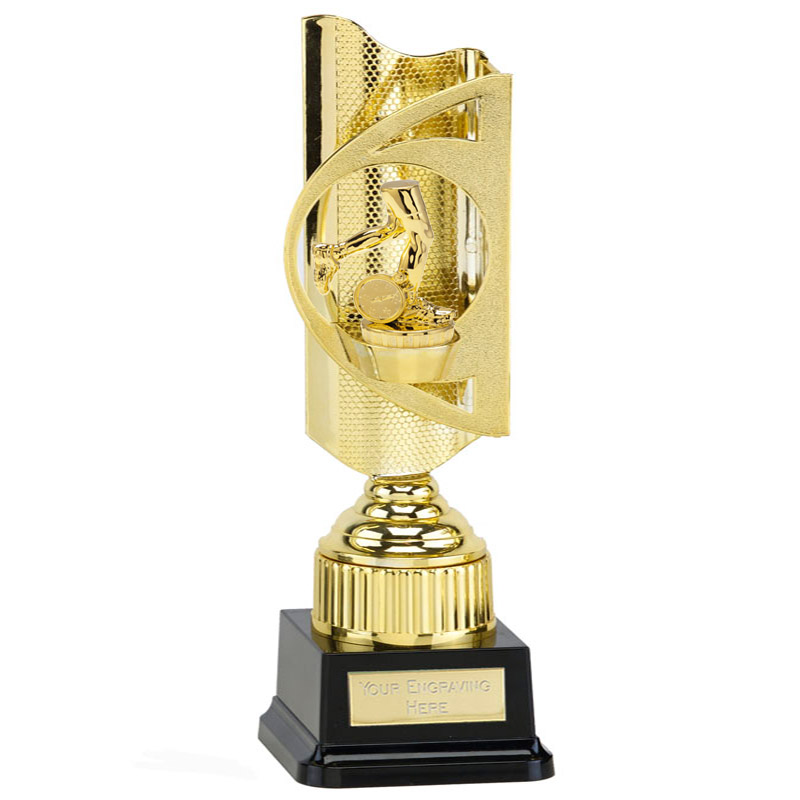 35cm Gold Running Neutral Figure On Infinity Award