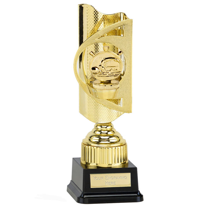 35cm Gold Swimming Figure On Infinity Award