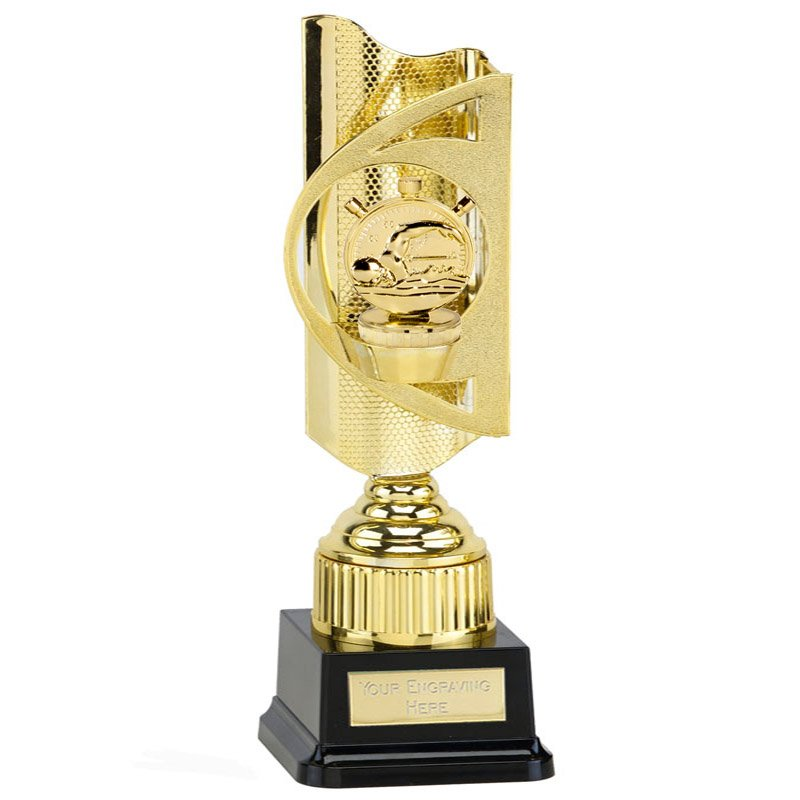 35cm Gold Swimming Figure on Swimming Infinity Award
