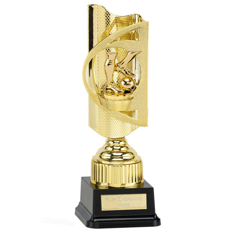 35cm Gold Football legs Figure on Football Infinity Award