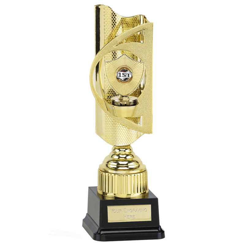 35cm Gold Centre Shield Figure on Infinity Award