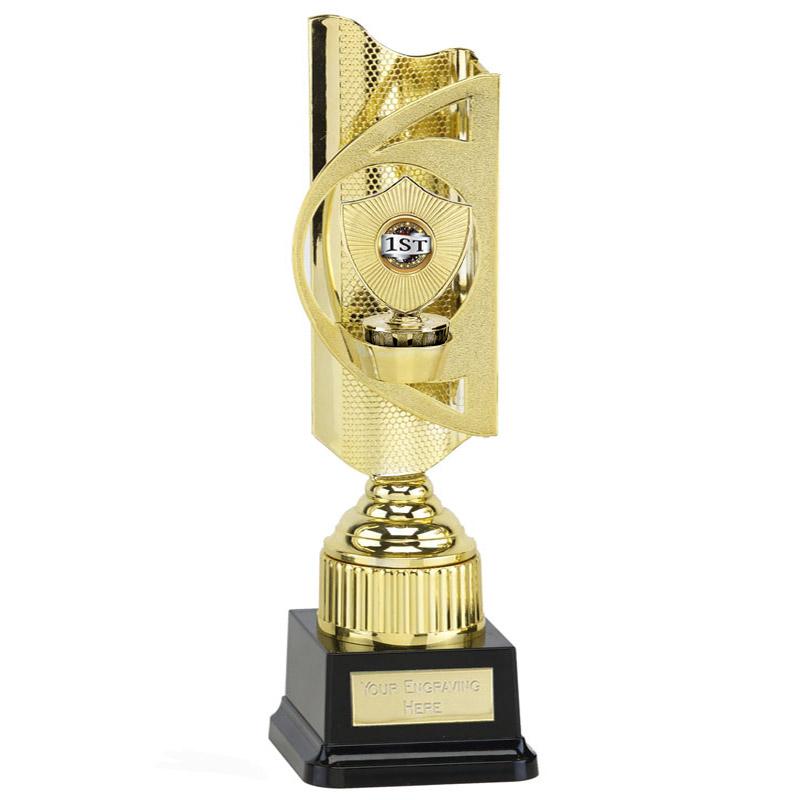 35cm Gold Centre Shield Figure on Infinity Award