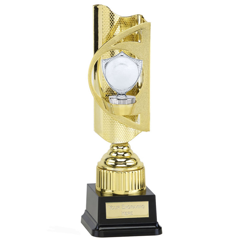 "35cm Silver 2"" Centre Shield Figure on Infinity Award"