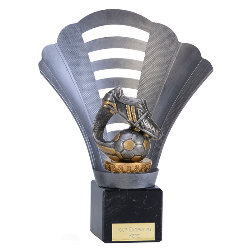 8 Inch Boot & Ball Wave Figure on Football Arena Award