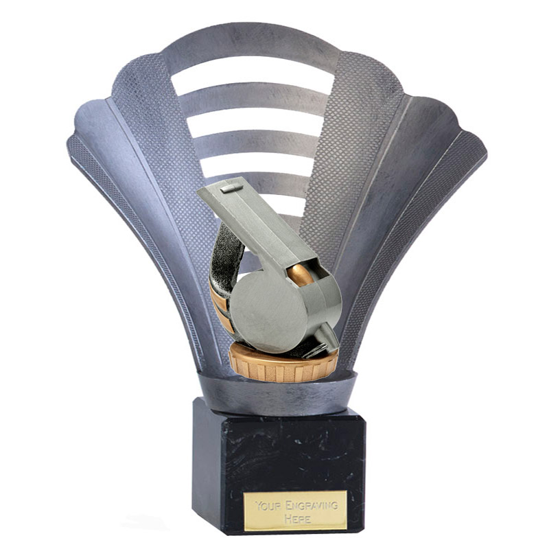 8 Inch Whistle Figure On Football Arena Award