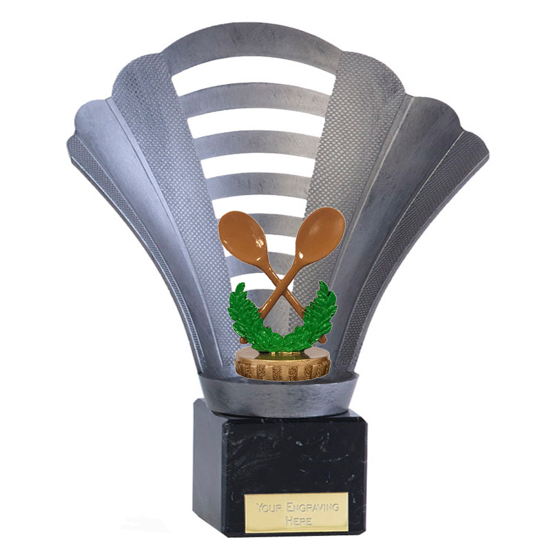 8 Inch Wooden Spoon Figure On Football Arena Award