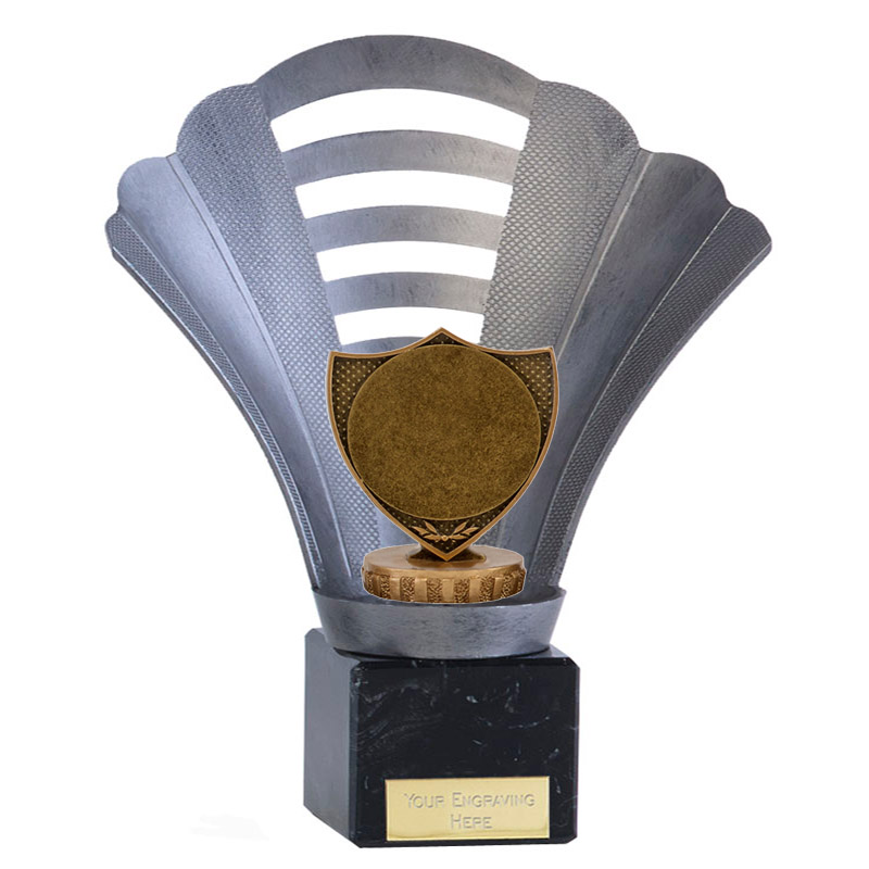 "8 Inch Shield with 2"" Centre Figure on Football Arena Award"