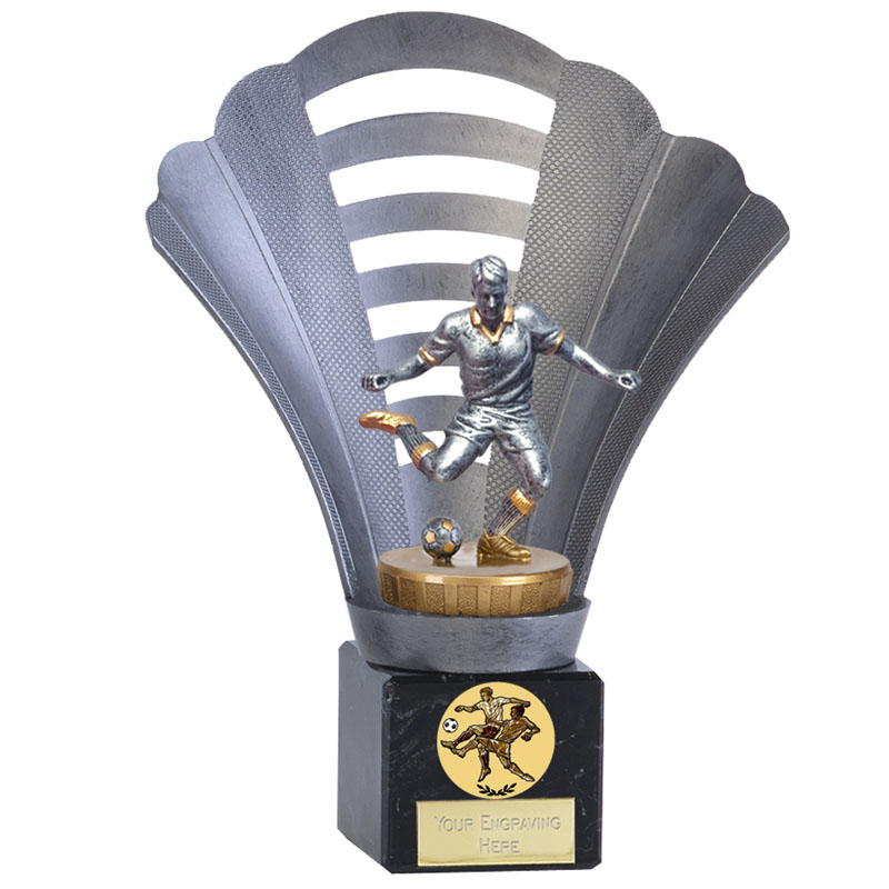 8 Inch Footballer Male Figure on Football Arena Award