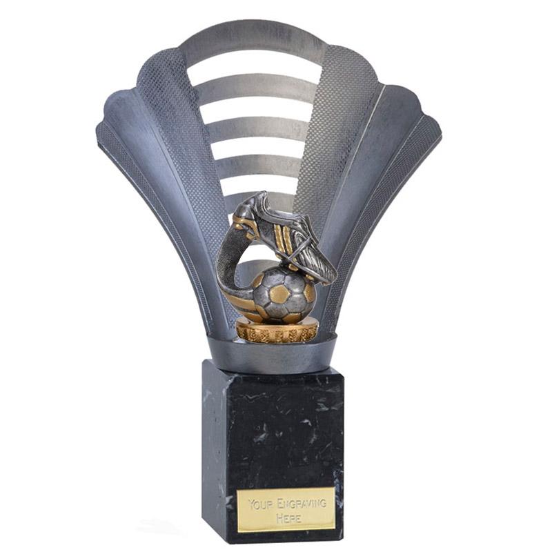 23cm Boot & Ball Wave Figure on Football Arena Award
