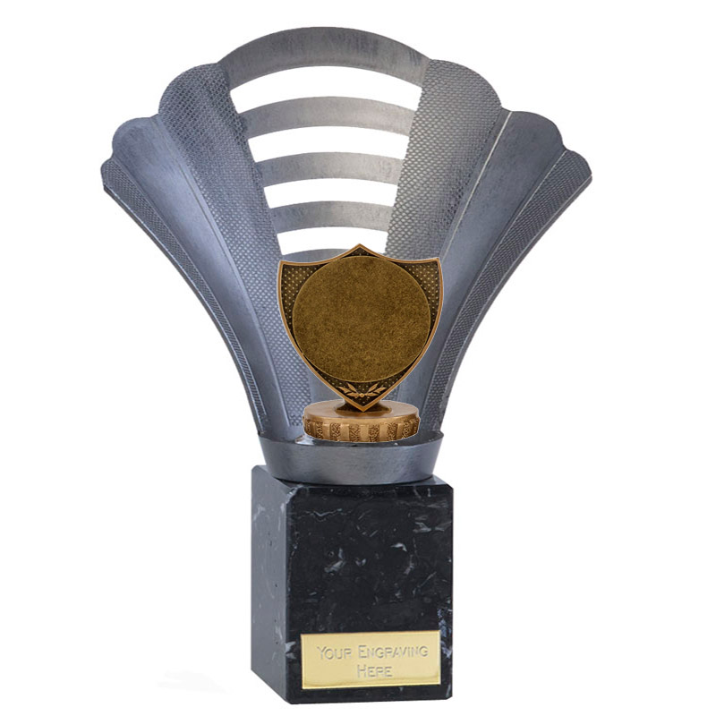 """23cm Shield With 2"""" Centre Figure On Football Arena Award"""