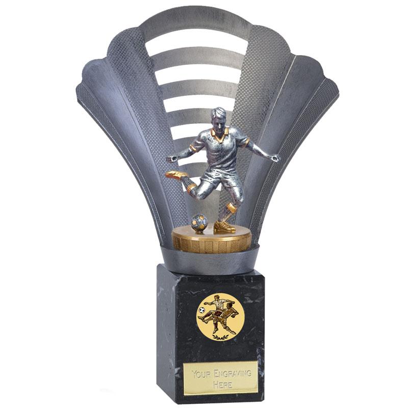23cm Footballer Male Figure On Arena Award
