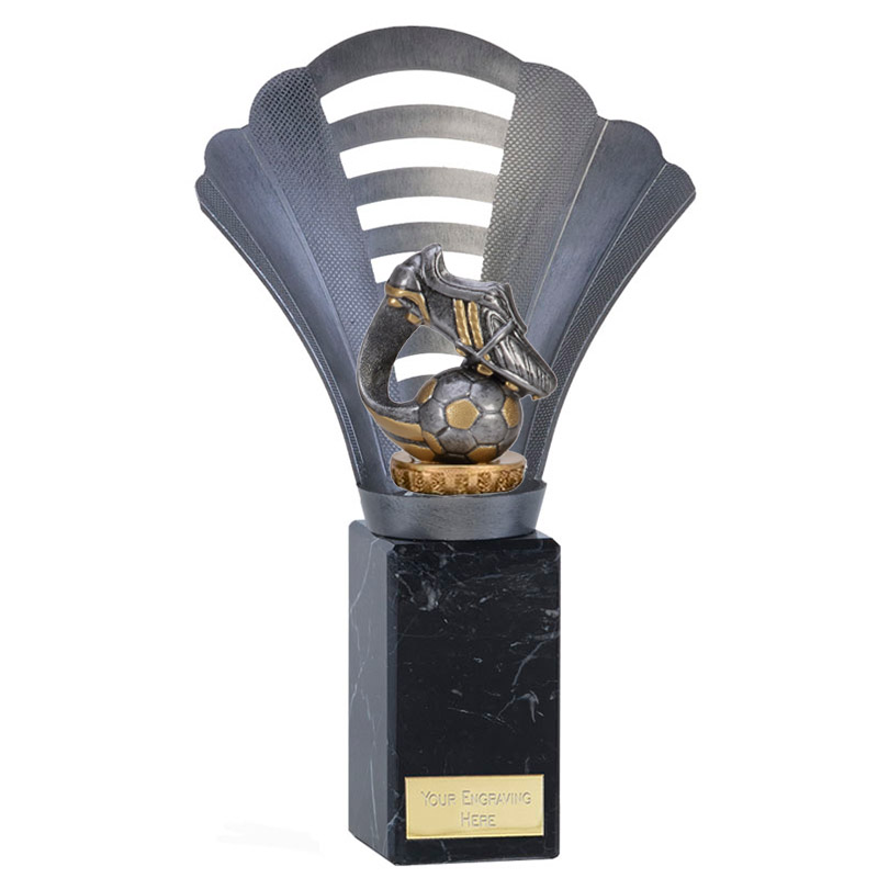 10 Inch Boot & Ball Wave Figure On Football Arena Award