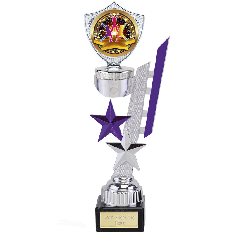 9 Inch Silver with Purple Detail Sports Star Award