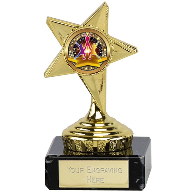 4 Inch Dance Group Gold Guide Star Award