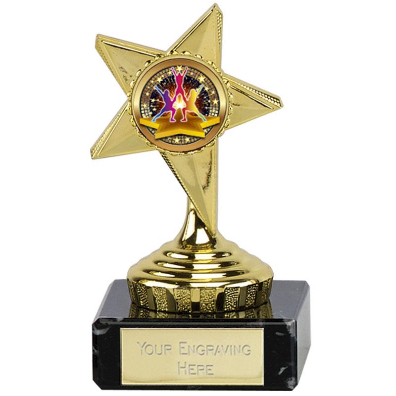 4 Inch Dance Group Gold Guide Star Award