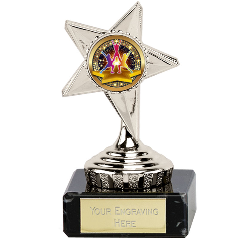 4 Inch Dance Group Silver Guide Star Award