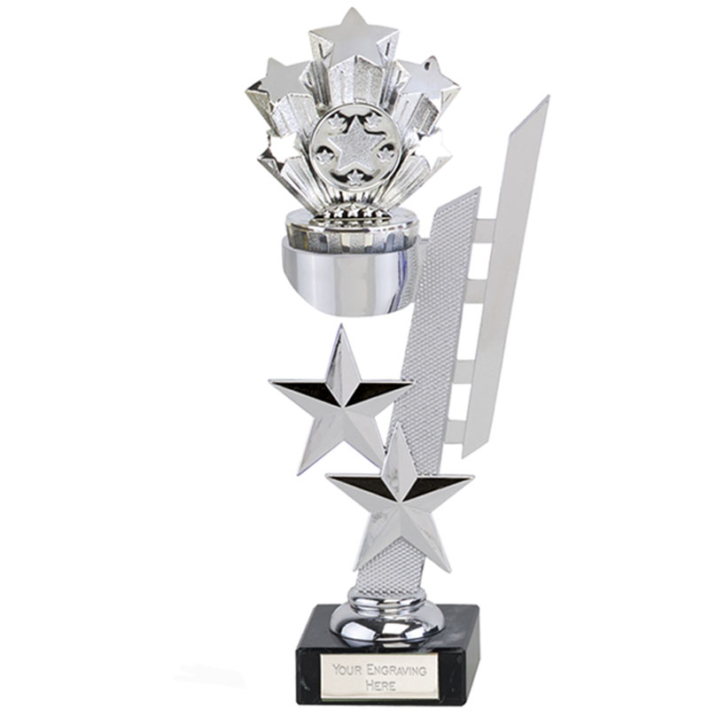 9 Inch Silver Starburst Sports Star Award