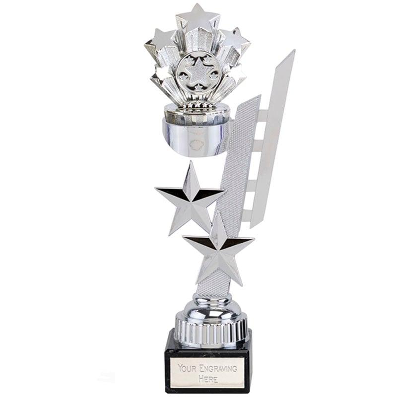 10 Inch Silver Starburst Sports Star Award