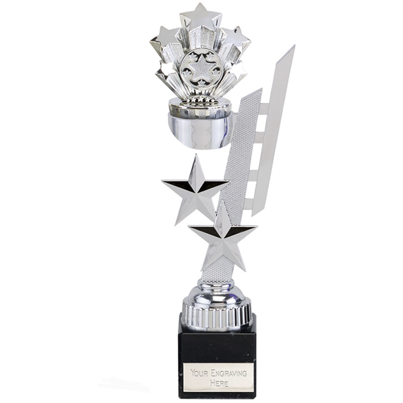 11 Inch Silver Starburst Sports Star Award