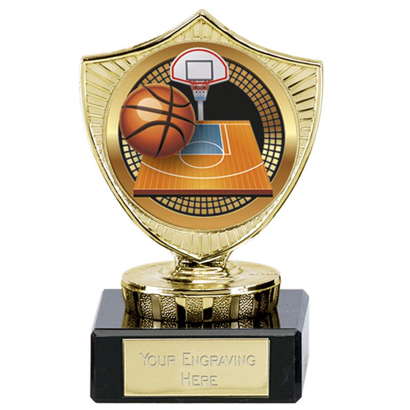 Large Basketball Spectrum Mini Shield
