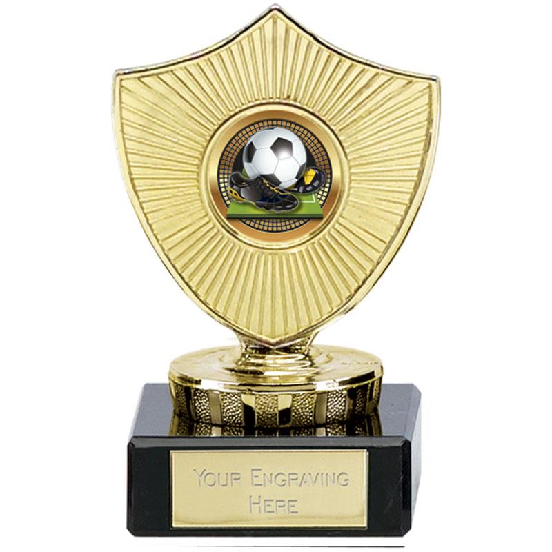 4 Inch Small Football Football Spectrum Mini Shield