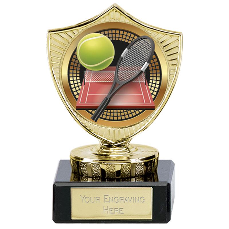4 Inch Large TEnnis Tennis Spectrum Mini Shield