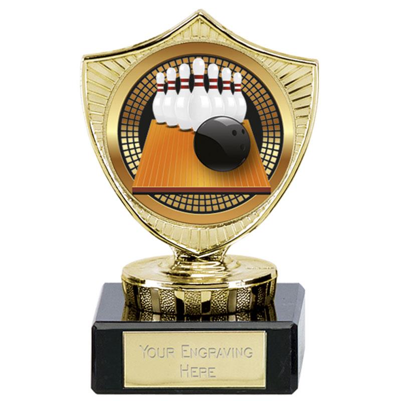 4 Inch Large Bowling Ten-Pin Spectrum Mini Shield