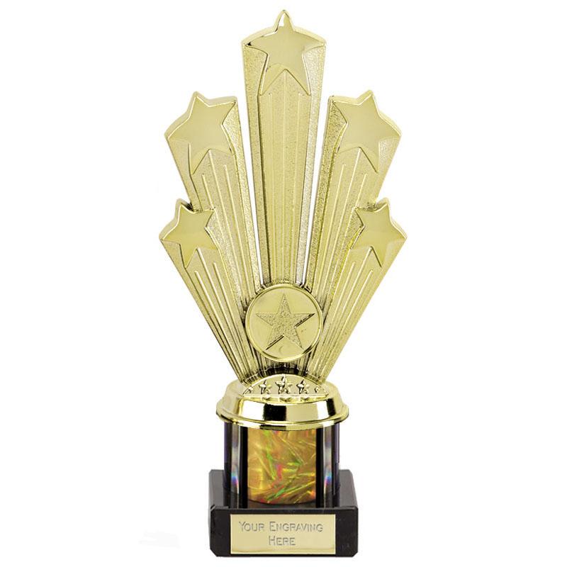 8 Inch Starburst Gold Podium Supreme Award