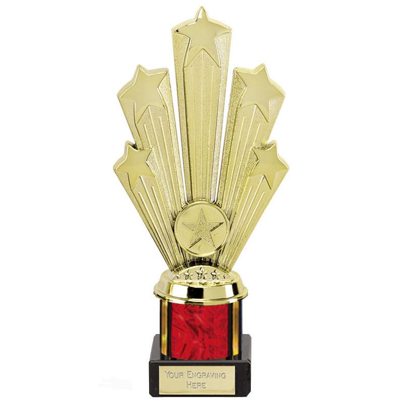 8 Inch Starburst Red Podium Supreme Award
