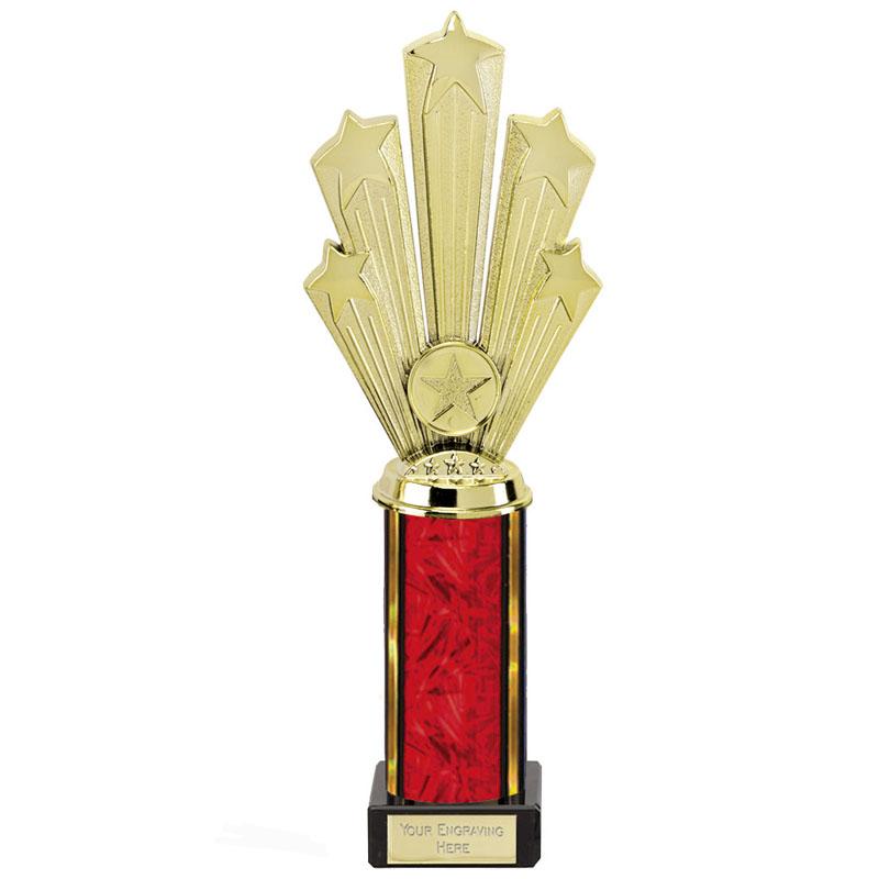 11 Inch Starburst Red Podium Supreme Award