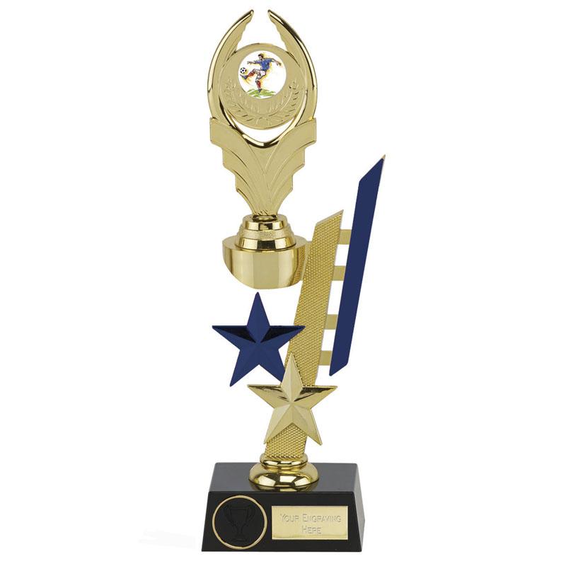 11 Inch Blue Detail Sports Star Award