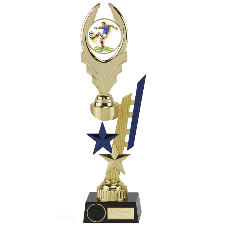 13 Inch Blue Detail Sports Star Award
