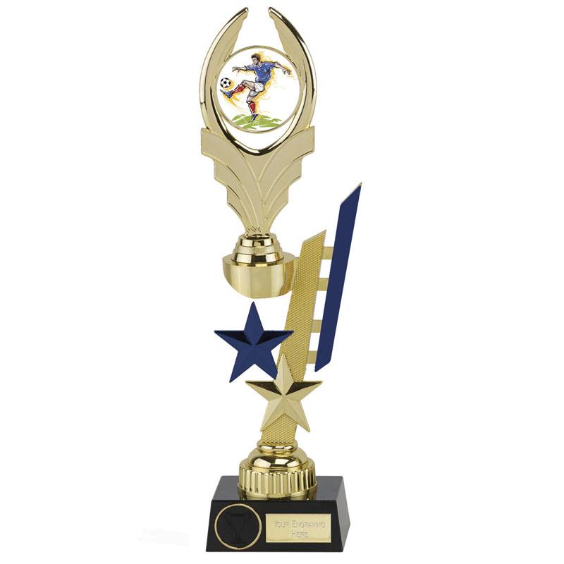 13 Inch Blue Detail Sports Star Award