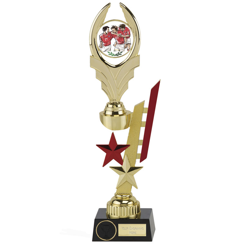 13 Inch Red Detail Sports Star Award