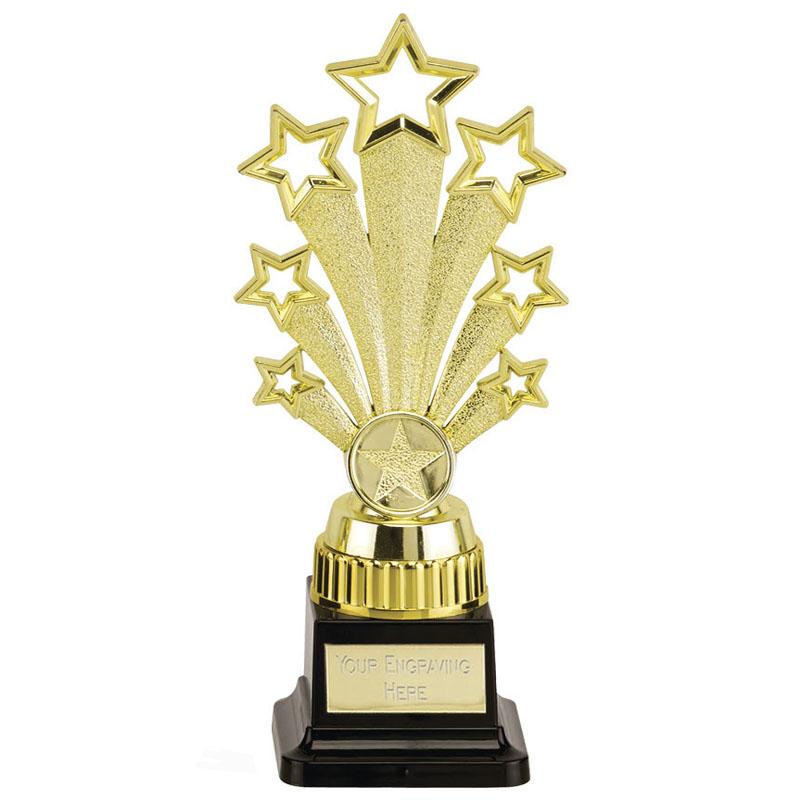 9 Inch Starburst Gold Plinth Fanfare Award